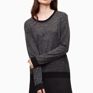 WILFRED Grey Black Trim Berri Sweater Long Sleeve